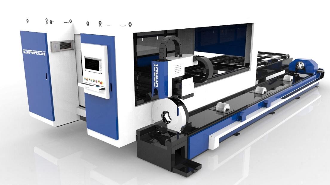 Máquina de Corte a LASER (HÍBRIDA – Chapa e tubo) com Tecnologia de Fibra Ótica IPG ou MAX - 1KW a 8KW
